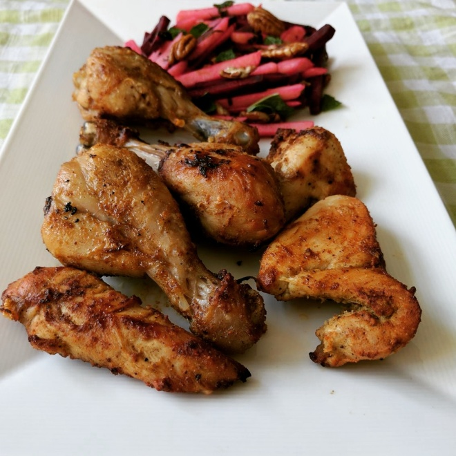 Cumin spiced grilled chicken